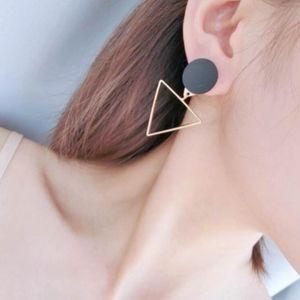 Jewelry - Asymmetric Triangle Circle Geometric Drop Earrings